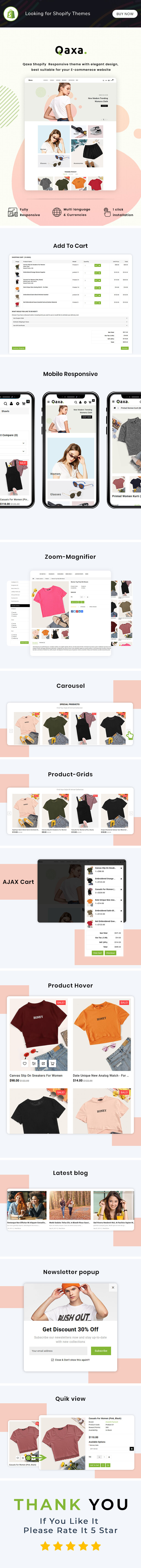 Qaxa - Responsive Fashion Shopify Theme - 3